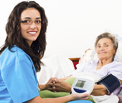 health care assistant with her client