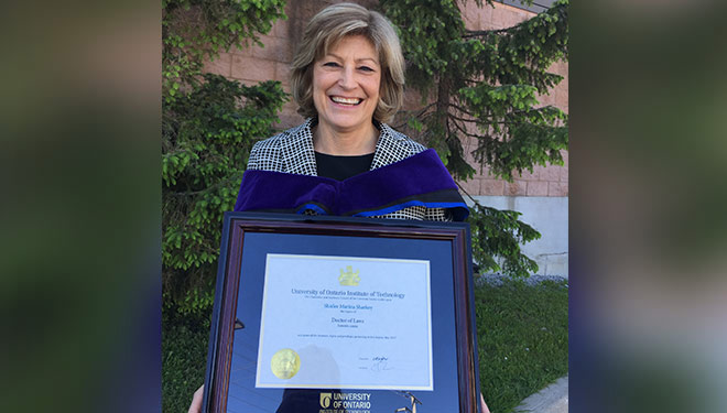Saint Elizabeth CEO Shirlee Sharkey receives honourary degree from UOIT