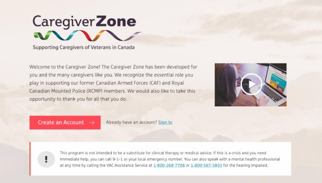 Saint Elizabeth and Elizz partner with Veterans Affairs Canada on Caregiver Zone