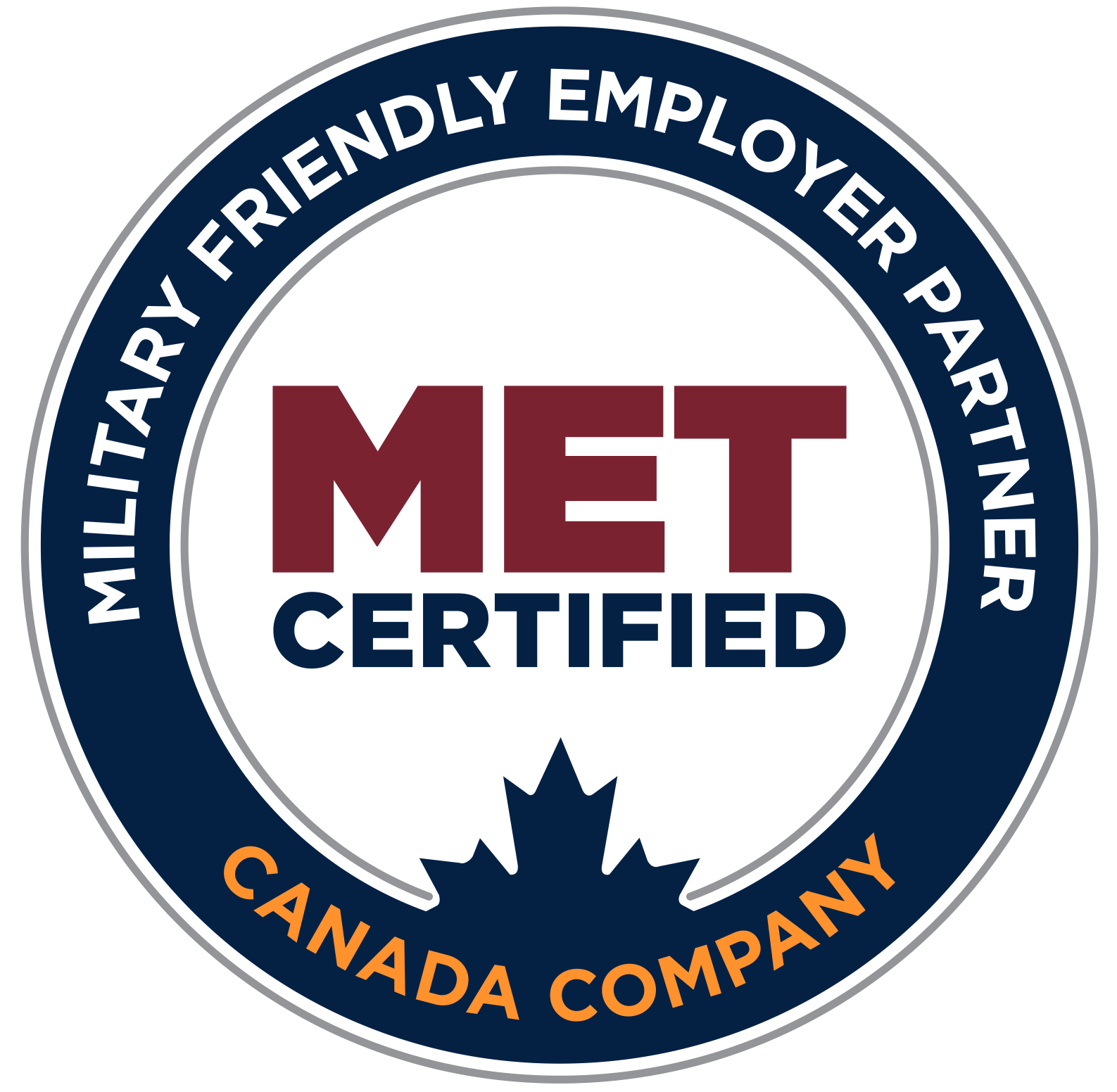 Military Friendly employer partner - MET certified